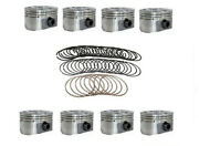 Dish Pistons W/ Moly Rings For 1996-2002 Chevrolet 350 5.7l Vortec Vin R