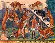 New Jungle Circus Big Trained Animal Show Tigers Vintage Poster Repro Free S/h
