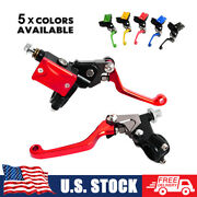 For Honda Hydraulic Brake Cable Clutch Master Cylinder Lever 7/8 Dirt Mx Enduro