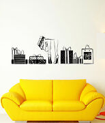 Vinyl Wall Decal Shopping Shop Gift Boxes Shoes Stilettos Stickers 1379ig