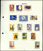 Romania Album Page Of Stamps V4408