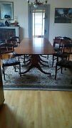 Antique Duncan Phyfe Table And 6 Chairs Mahogany 1940s