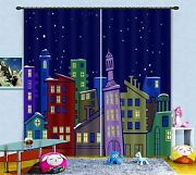 3d Star House 55blockout Photo Curtain Printing Curtains Drapes Fabric Window Ca