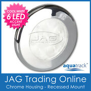 12v 6-led Chrome Round Courtesy Light - Boat/cabin/caravan/rv/stair/step Accent