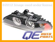 Headlight Assembly With White Turn Signal Lens And Yellow Reflector Hella