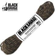 New Woodland Camo 50 Ft Black Savage Survival Type Iii Commercial Paracord Rope
