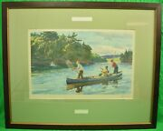 Atlantic Salmon Fishing By Ogden M Pleissner Frost And Reed Sporting Gallery 1939
