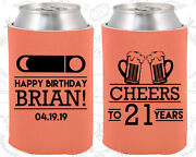Personalized 21st Birthday Party Gifts Koozie 20007 Cheers To 21 Years, Items