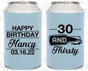 30 And Thirsty Beer Bottle Happy Birthday Party Birthday Can Coolers 20014