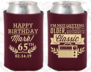 Personalized 65th Birthday Party Favor Koozies 20056 Vintage Birthday, Gifts