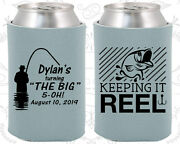 Personalized 50th Birthday Party Gifts Koozie 20067 Fisherman, Fishing