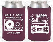 Personalized 50th Birthday Party Gifts Koozie 20117 80's Birthday, Vintage