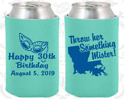 Personalized 30th Birthday Party Favor Koozies 20146 Mardi Gras, Nola, Gifts