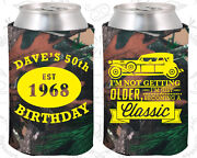 Personalized 50th Birthday Party Favor Koozies 20156 Decorations, Items, Gifts