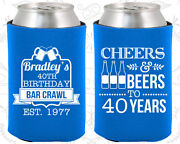 Personalized 40th Birthday Party Favor Koozies 20216 Cheers To 40 Years, Gifts