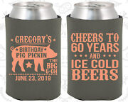 Personalized 60th Birthday Party Gifts Koozie 20217 Bbq Birthday, Barbecue