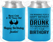 Personalized 40th Birthday Party Gifts Koozie 20237 Happy Birthday Decorations