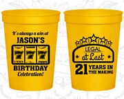 21st Party Favor Cups Vegas Birthday Legal At Last Casino Birthday 20061