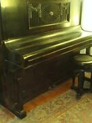 Vtg. Upright German-polish Piano W.jahne Made In 1930and039s-youand039re Buying History