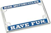 Biltwell Old Fashioned License Plate Frame Quality Counts Fr Motorcycles Us Size