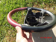 2000-2002 Mercedes-benz W210 W208 Clk55 E55 Amg Style Red Leather Steering Wheel