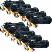 10x 50 Ft Audio Video Power Cable Pre-made Connector For Dvr Security Camera Cku