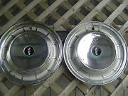 1958 58 Ford Edsel Two Hubcaps Wheelcovers Center Caps Antique Vintage Fomoco