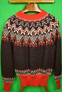 Abercrombie And Fitch Black And Red Danish And039skiand039 C60s Sweater