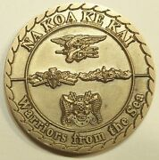 Sub / Seal Special Delivery Vehicle Team One / 1 Brass Navy Challenge Coin