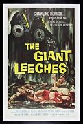 The Giant Leeches ✯ Cinemasterpieces Original Bug Monster Movie Poster 1959