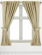 2 Panels Blackout Curtain 52x63 Inch Room Darkening Curtains Loops Utopia Home