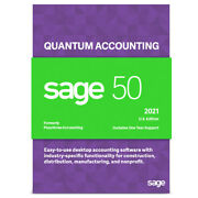 Sage 50 2021 Quantum 2 Users Peachtree - Not A Subscription