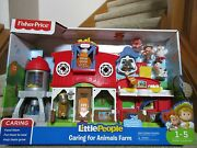 Fisher Price Little People Caring For Animals Farm Folds New Facial Features Nib