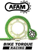 Ducati 1200 Mts Multistrada All 10-16 Afam Upgrade Green Chain And Sprocket Kit