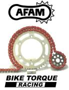 Triumph 865 Bonneville / T100 04-16 Afam Upgrade Red Chain And Sprocket Kit