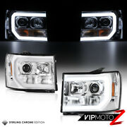 Cyclop Optic Tube Drl Projector Headlights For 2007-2013 Gmc Sierra 1500 2500