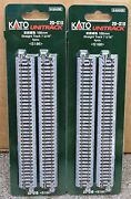 Lot Of 2 - N Scale Kato Unitrack 20-010 Straight Track 186mm 4 Pieces Per Pack