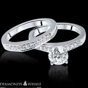 1.17 Tc Solitaire With Accent Bridal Diamond Ring Vs1/e Engagement Ring Enhanced