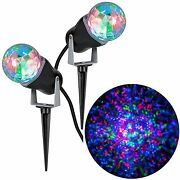 Christmas Lot Of {2} Gemmy Combo Pack Multicolor And Others Kaleidoscope Lights