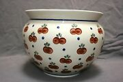Boleslawiec Polish Pottery large plater, vase or used for serving, cherry print