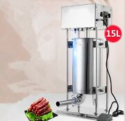 New Automatic Sausage Filling Machine Stainless Steel Sausage Filler Maker 15l