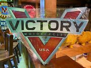 Victory Motorcycles Heavy Duty New Design Tin Metal Sign Harley Indian