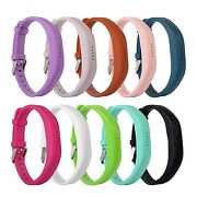 Replacement Wrist Band Silicon Strap With Metal Buckle Clasp For Fitbit Flex 2