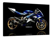 Yamaha Yzf-r6 30x20 Inch Canvas - Framed Picture Poster Print