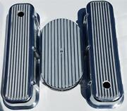 Big Block Chevy Finned Valve Covers And 15 Air Cleaner Polished Aluminum Vintage