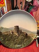 Villeroy And Boch Mettlach 12.5 Wall Hanging Charger Schlohs Heidelberg Castle