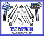 Fabtech K2013 6 4 Link System W/ Per. Shocks For 2005-07 Ford F250 4wd