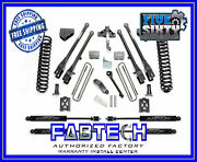 Fabtech K20131m 6 4 Link System W/ Stealth Shocks For 2005-07 F250 4wd