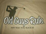 Old Guys Rule Any Way You Slice It Golf Clubs Bag Balls Irons S/s L