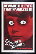 Children Of The Damned ✯ Cinemasterpieces Horror Creepy Eyes Movie Poster 1964